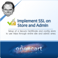 SSL for Opencart Store and Admin